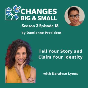 Tell Your Story CBaS podcast cover image with Daralyse Lyons