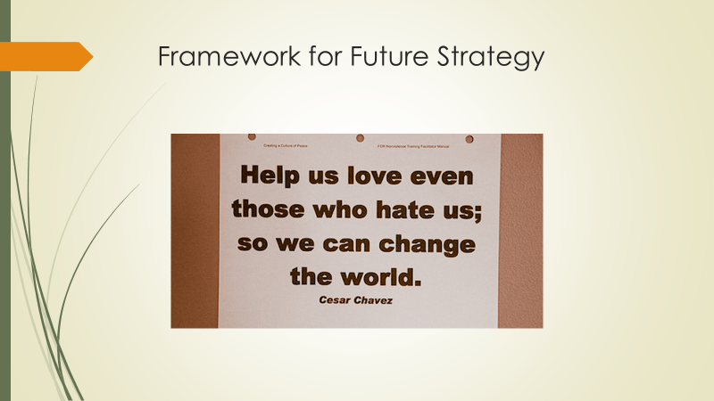 Quote fromCeaser Chavez: Help us love even those who hate us; so we can change the world