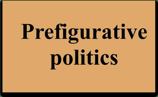Slide says 'Prefigurative Politics'