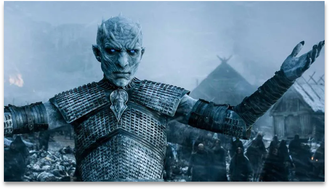 Image of the Night King from Game of Thrones Series