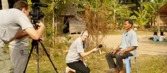 ChangeStream Media interviews a village chief in Cambodia. We use digital storytelling to change lives worldwide.