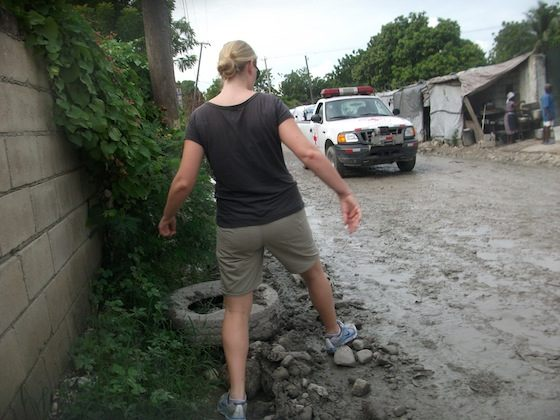 First time walking around the neighborhood in Port-au-Prince