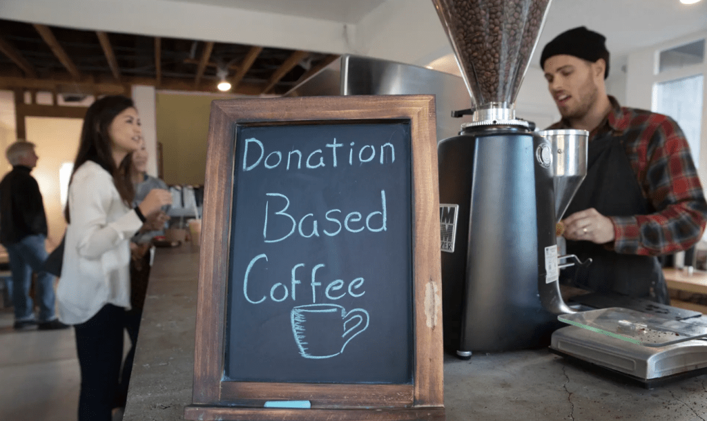 donation based coffee