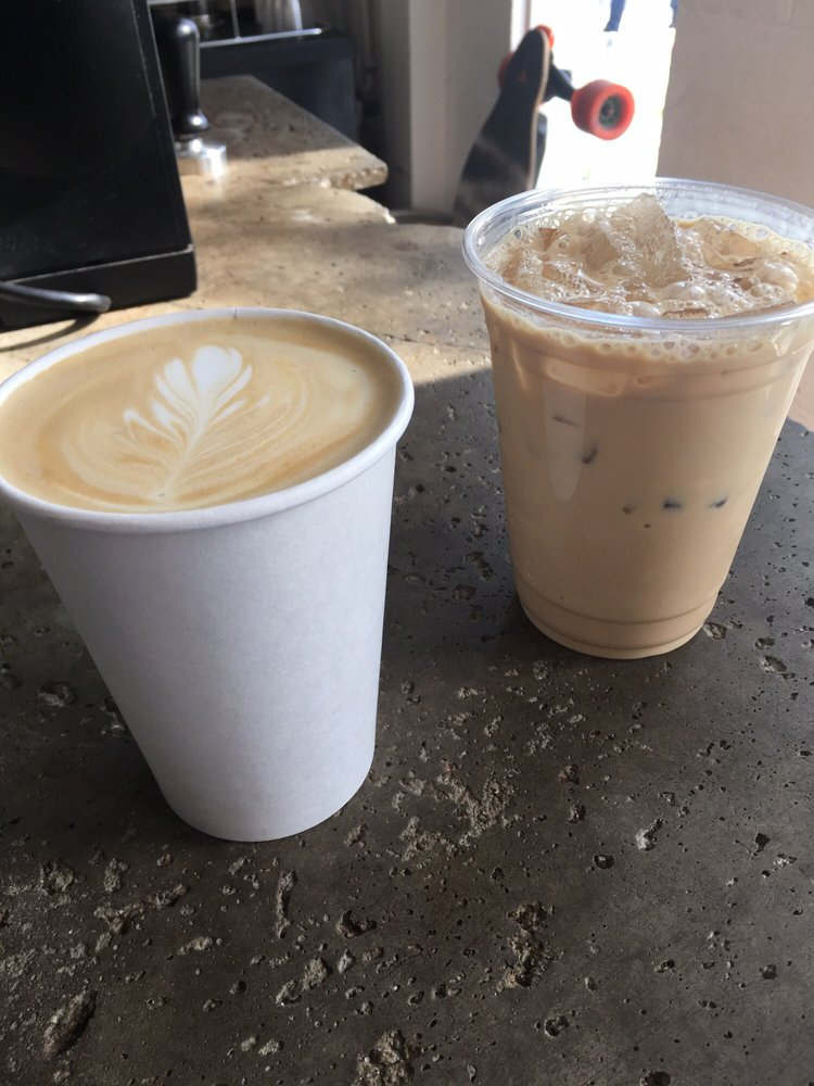 iced and hot lattes
