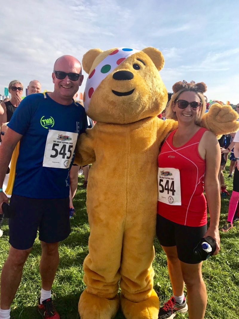 carfest 2017 Angela Vincent and family, with bear