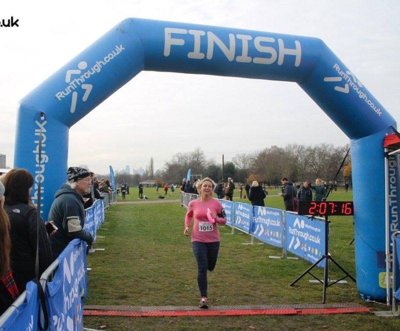 Angela Vincent running a marathon