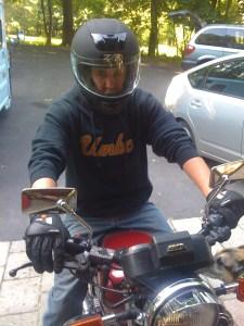 Virgil Thomas on his Yamaha