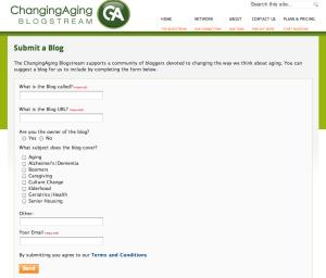 submit a blog screenshot