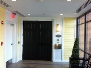 Private Green House door