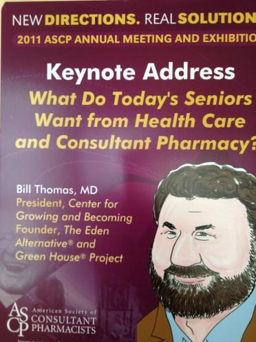Dr. Bill Thomas pharmacist poster