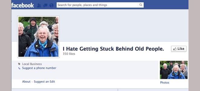 Facebook/Hatebook - ChangingAging