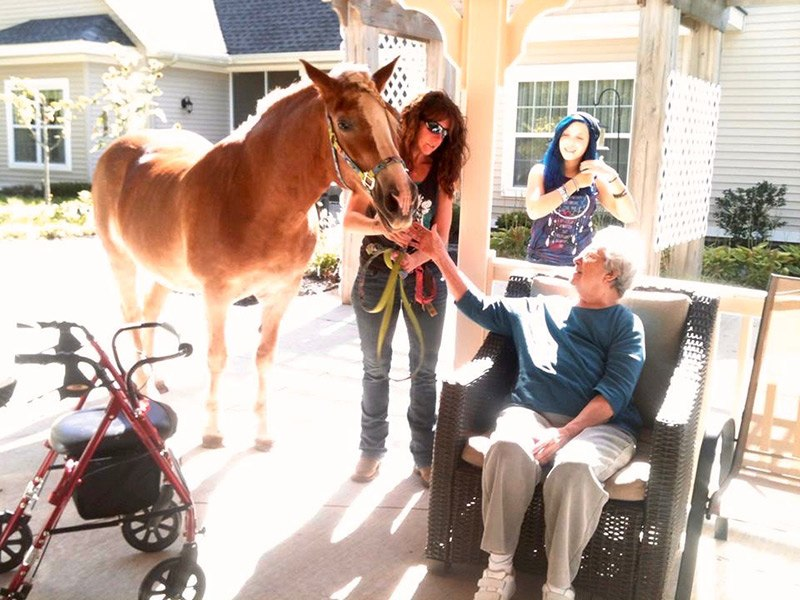 Fran with Horse - ChangingAging.org