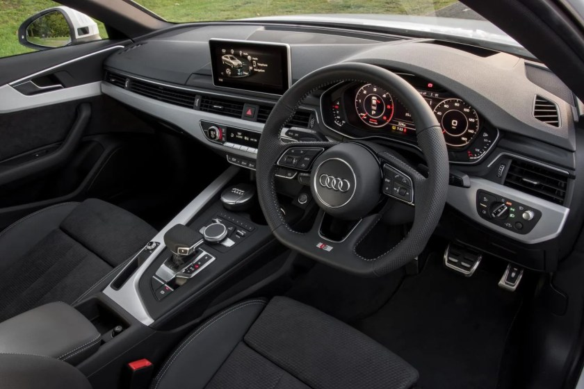 The interior of the 2015 Audi A4