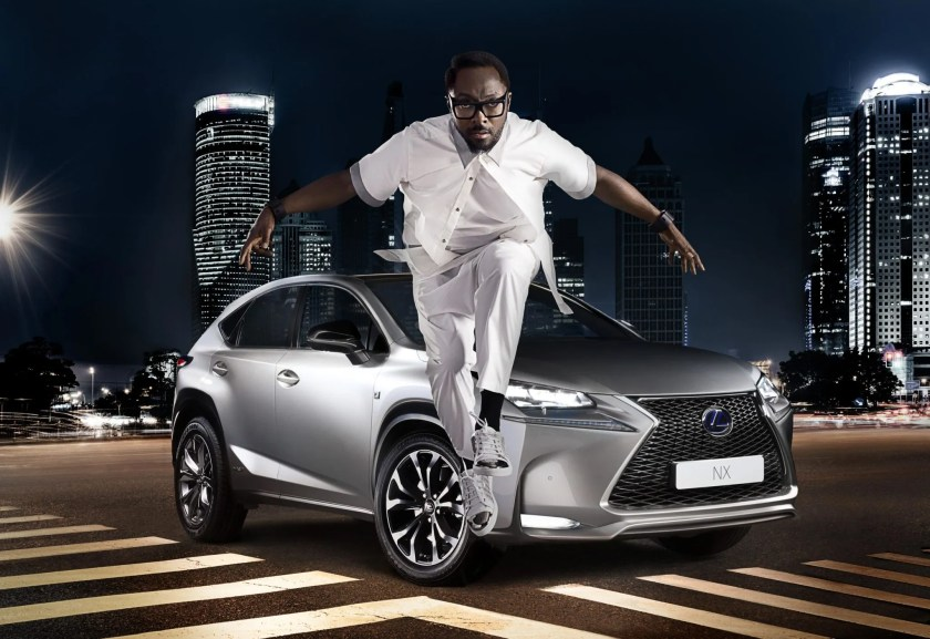 music car endorsements lexus wil.I.am