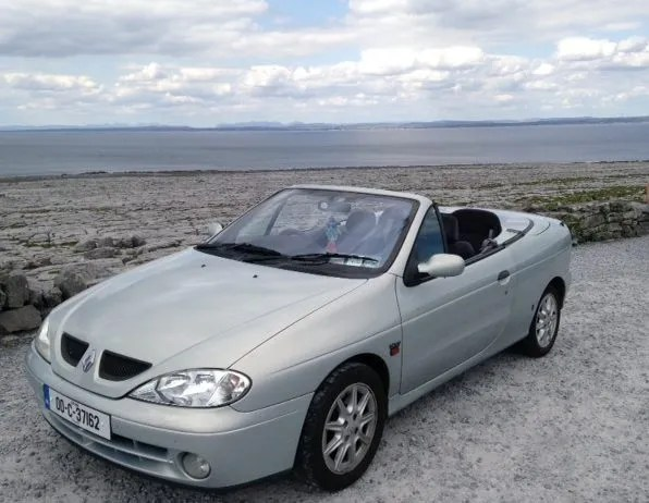 Breandán's beloved Renault Megane Cabriolet