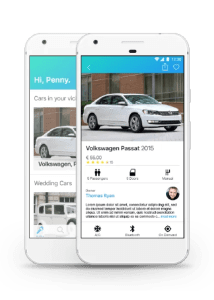 Fleet car sharing app