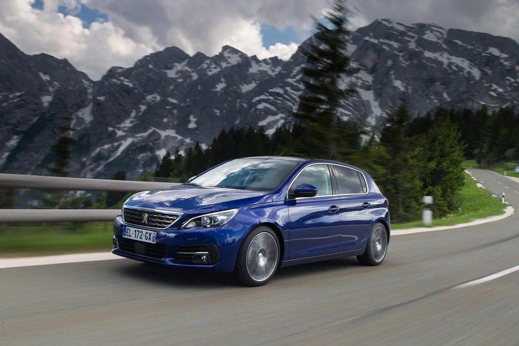The Peugeot 308 petrol hatchback