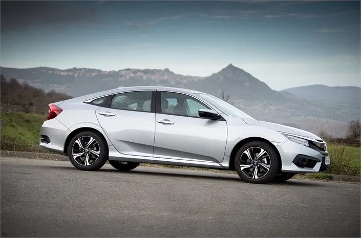 Honda Civic Saloon On The Way To Ireland