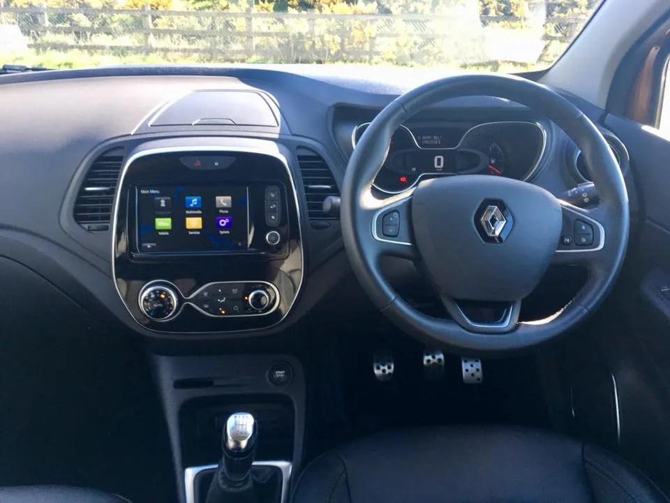 Interior of the Renault Captur