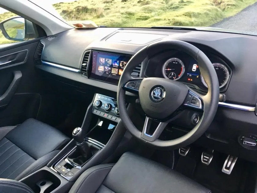 Interior of the Skoda Karoq