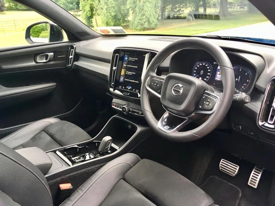 The interior of the new Volvo XC40