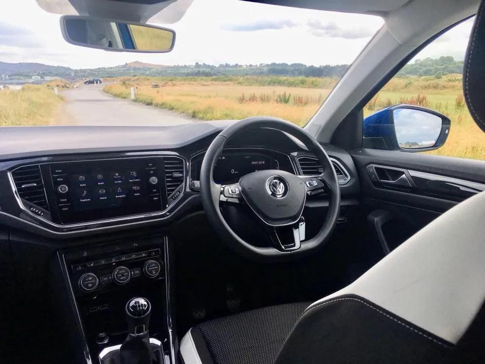 The interior of the 2018 Volkswagen T-ROC