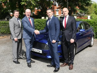 Paul O'Sullivan, Ford Ireland Director of Sales; Ciarán McMahon, Ford Ireland Chairman and Managing Director; with Ray Porter and David Porter of Porter Ford.