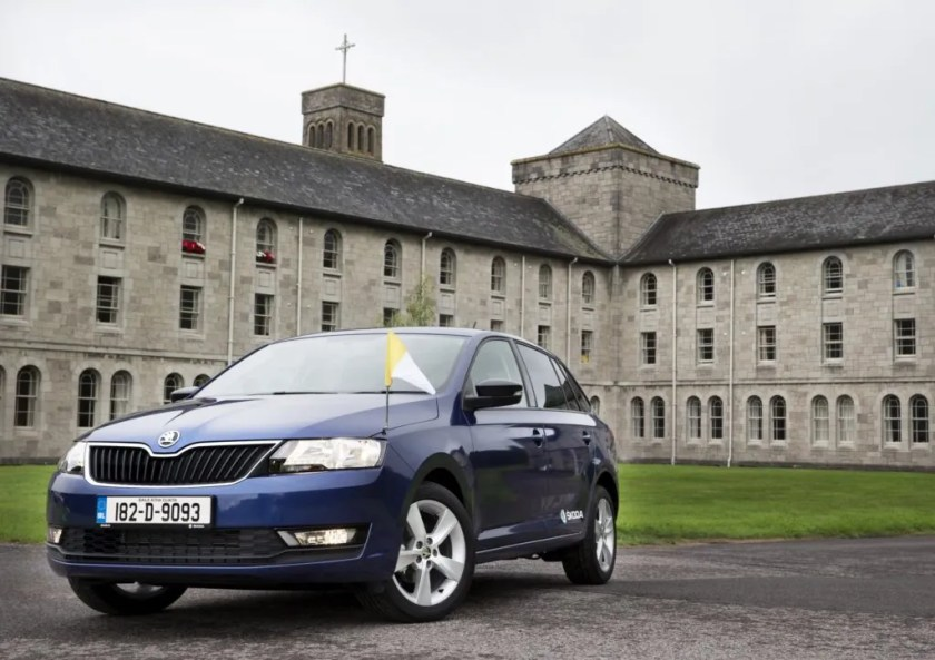 The Skoda Rapid that will transport Pope Francis during his visit to Ireland