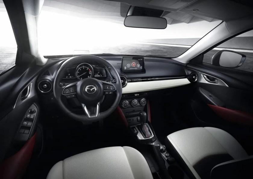 The interior of the 2018 Mazda CX-3