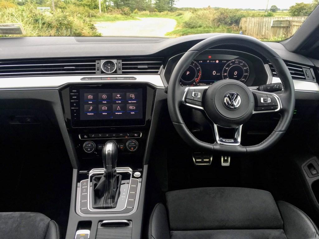The interior of the Volkswagen Arteon R-Line