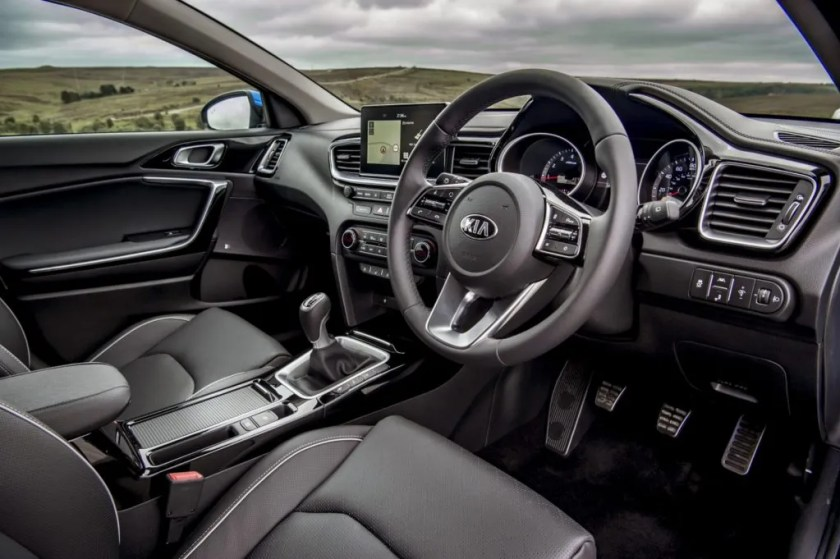 The interior of the 2018 Kia Ceed