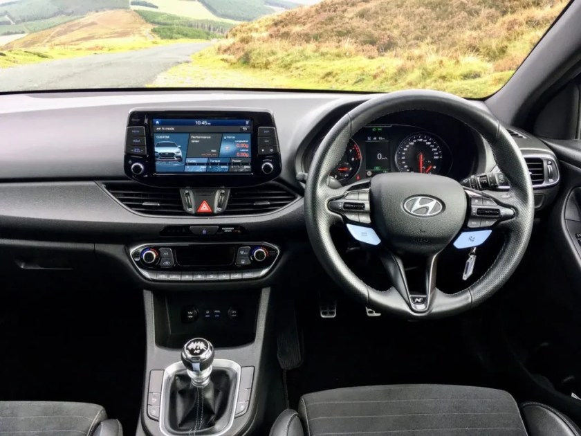 The interior of the Hyundai i30 N Performance