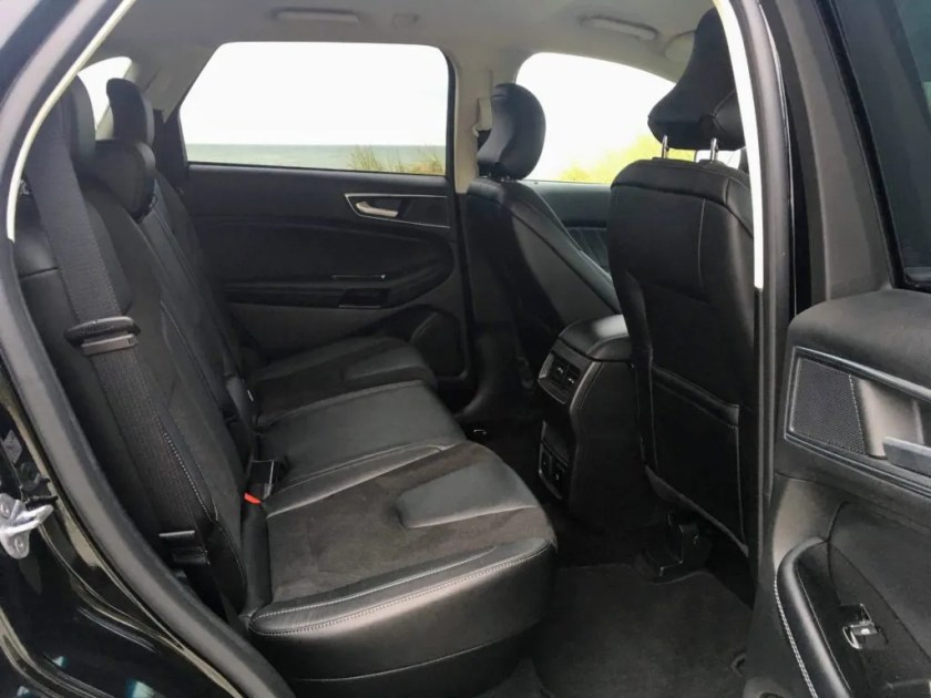 Rear seating in the Ford Edge