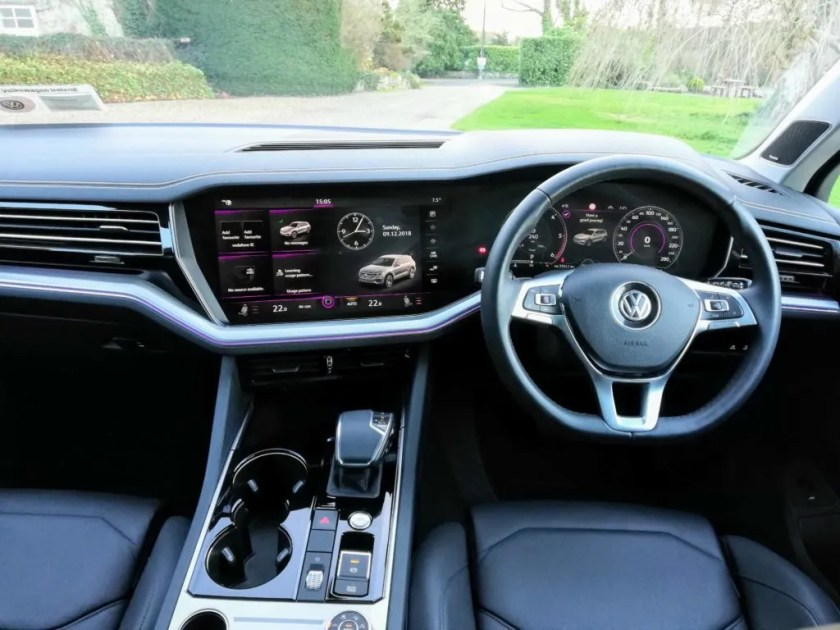 Impressive interior of the new Volkswagen Touareg!