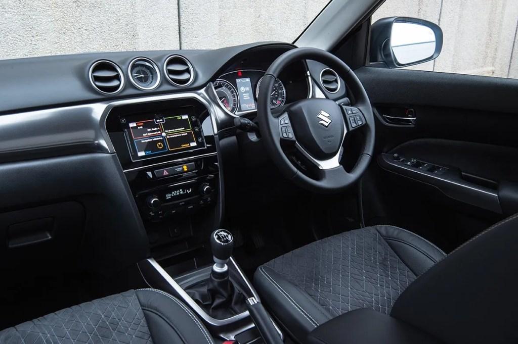 The interior of the Suzuki Vitara