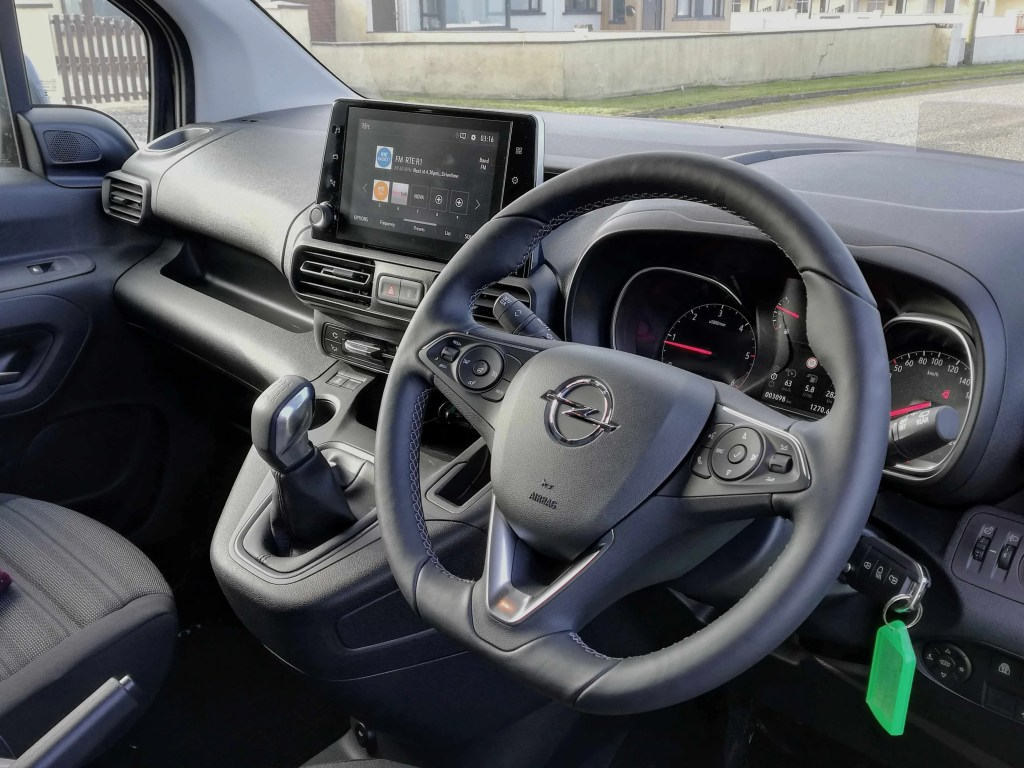 The interior of the new Opel Combo Life