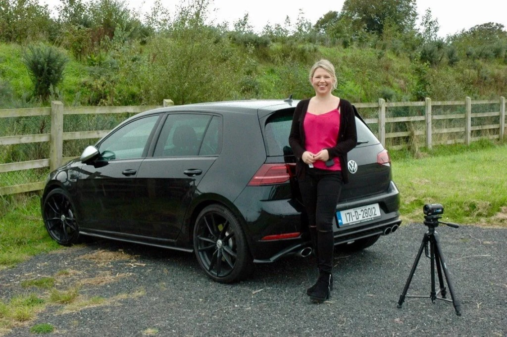 Caroline and the Volkswagen Golf R