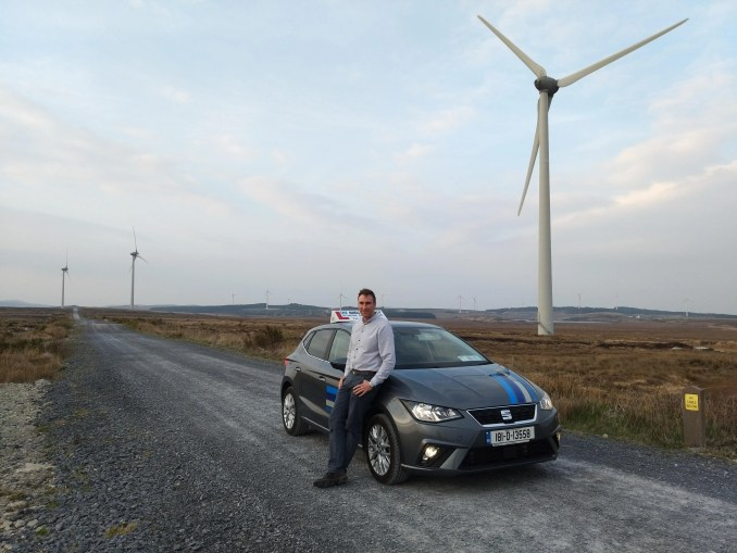 Niall Conneely and his SEAT Ibiza