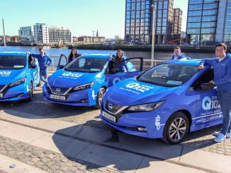 The Blue Crew will be using a fleet of electric Nissan Leafs!