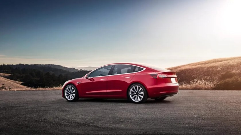 The TESLA Model 3 has a range of up to 560 km on WLTP