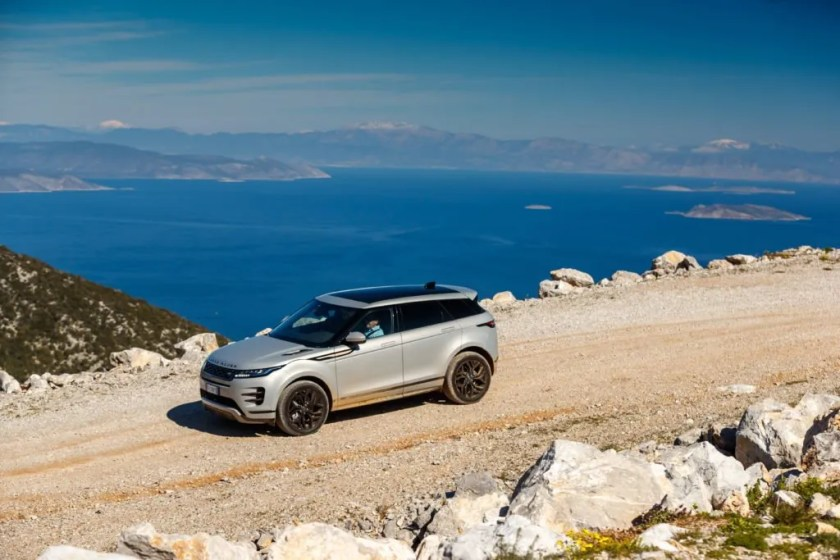 The Range Rover Evoque can effortlessly transition from off-road driving to smooth, tarmac roads