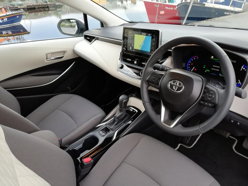 The interior of the new Toyota Corolla Saloon