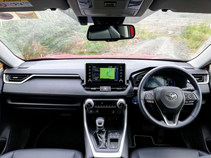 The interior of the new Toyota RAV4 Hybrid