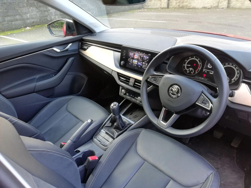The interior of the new Skoda Scala