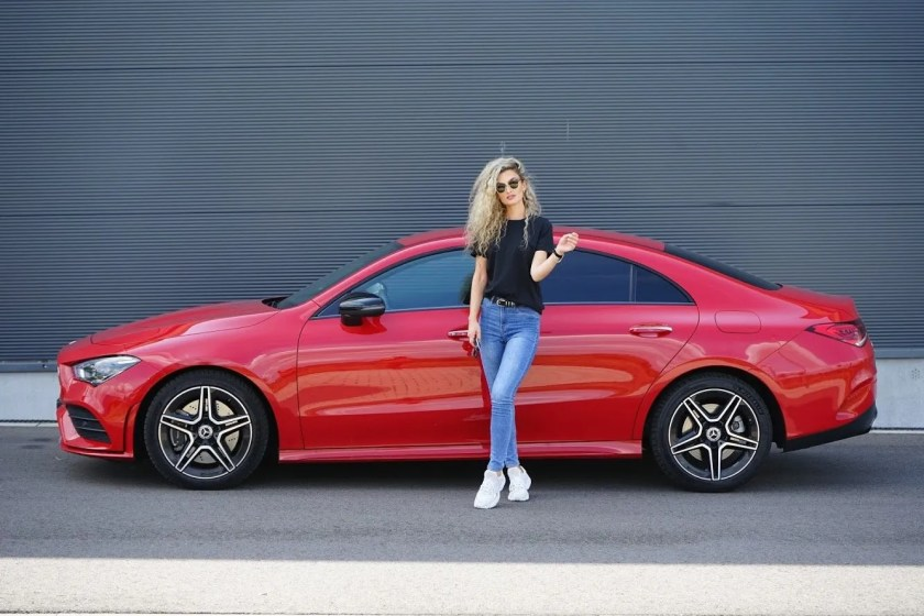 Nina Weizenecker and the Mercedes-Benz CLA