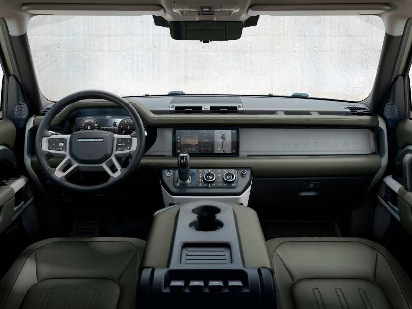The interior of the new Defender
