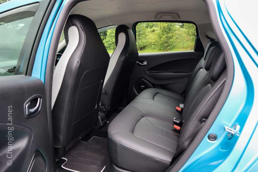 Rear seating in the new Renault ZOE