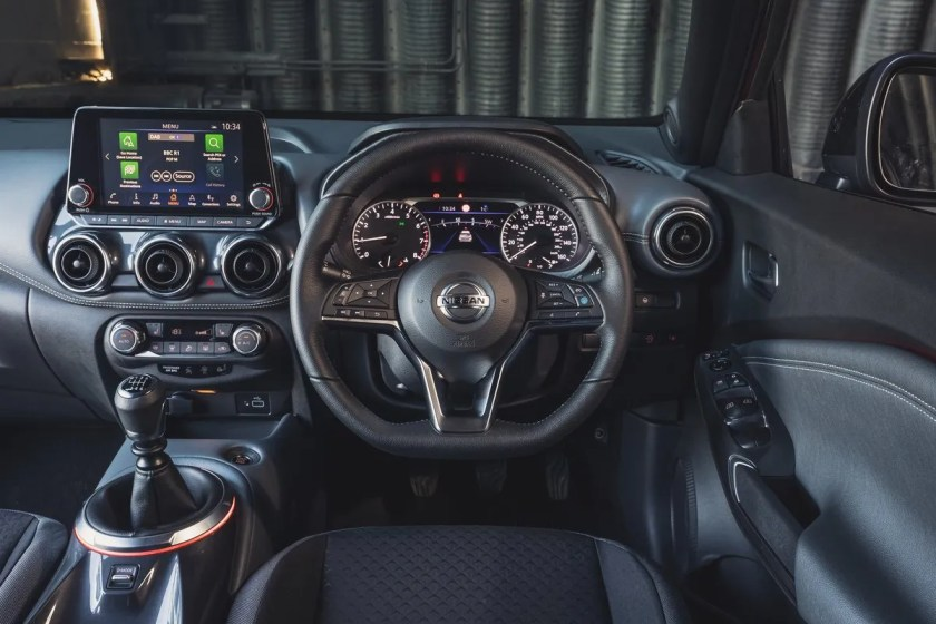 The interior of the 2020 Nissan Juke