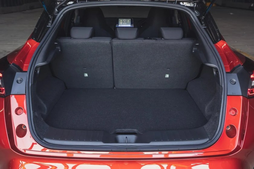 Boot space in the new Juke