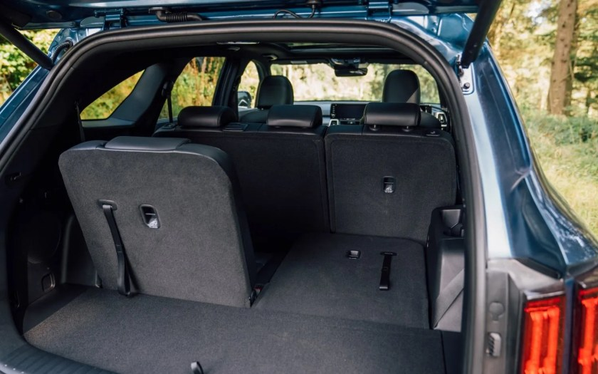 Generous 7-seat accommodation inside the new Kia Sorento
